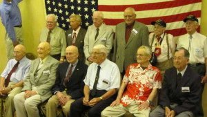 Twelve shipmates attended the 19th Reunion in San Antonio, Texas in 2012. Front Row L-R - Harold Woodfrod, Tom English, Doug Aitken, Frank Boffi, Robert Hodenson, Don Hile. Back Row L-R - Bob Bell, Leo Polek, Jim Harden, Oliver Jacobson, Dell Burt Hall, Marty Weibel.