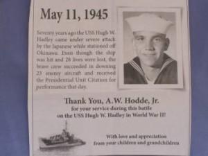 News release for A.W. Hodde Jr.